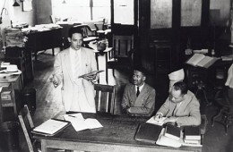 Thurgood Marshall with Charles Houston and Donald G. Murray