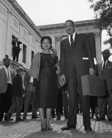 Thurgood Marshall Leaving Supreme Court