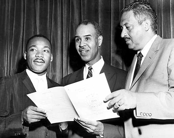 Martin Luther King Jr., Roy Wilkins and Thurgood Marshall