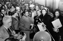 Autherine Lucy In Crowd Holding Bible