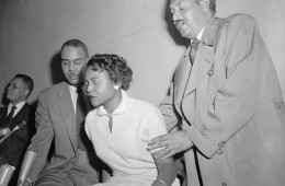 Autherine Lucy W and Thurgood Marshall