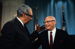 Emanuel Celler Chatting with Thurgood Marshall