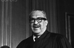 Justice Thurgood Marshall Wearing Robe