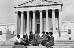 Little Rock Children at Supreme Court for Integration