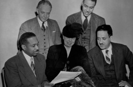 Mrs. Eleanor Roosevelt, Thurgood Marshall and NAACP Members