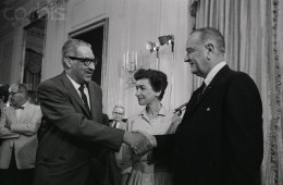 President Johnson and Judge Marshall