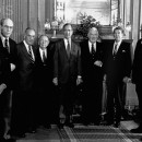 Reagan with Bush and Members of Supreme Court