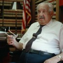 Supreme Court Justice Thurgood Marshall in his office