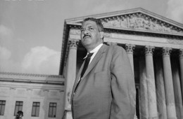 Thurgood Marshall Outside the Supreme Court