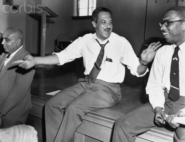 Atlanta, Georgia, USA --- Original caption: Atlanta, GA: Photo of Thurgood Marshall, chief attorney for NAACP, at NAACP regional meeting in Atlanta.