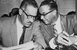 Thurgood Marshall & W.J. Durham Confer
