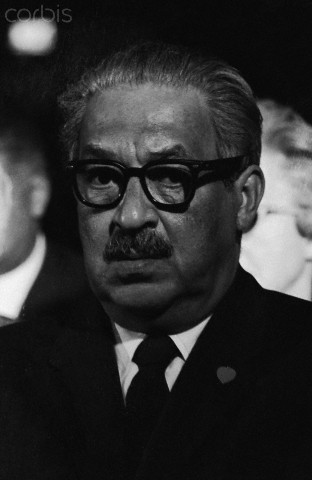 Supreme Court justice Thurgood Marshall attends the funeral of civil rights leader Martin Luther King, Jr.