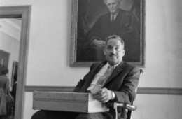 Thurgood Marshall with Brandeis Portrait