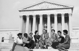 Thurgood Marshall with Little Rock Defendants