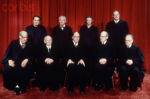 Thurgood Marshall; William Brennan; Chief Justice William Rehnquist; Byron White