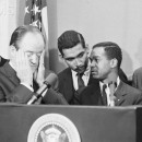 Hubert Humphrey with African American Leaders